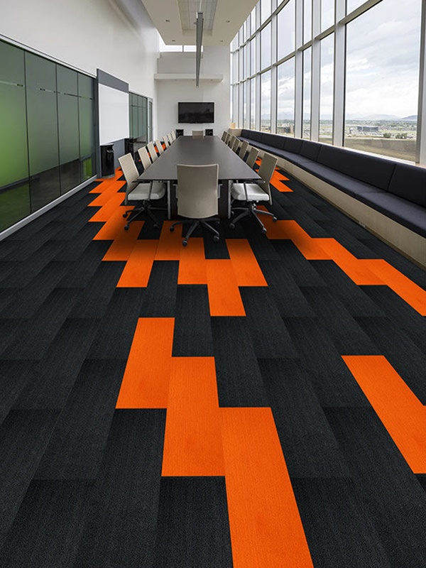 Carpet tile, plank carpet, office carpet, nylon carpet, commercial carpet